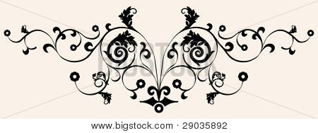 black-and-white arabesque