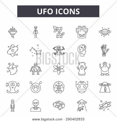 Ufo Line Icons For Web