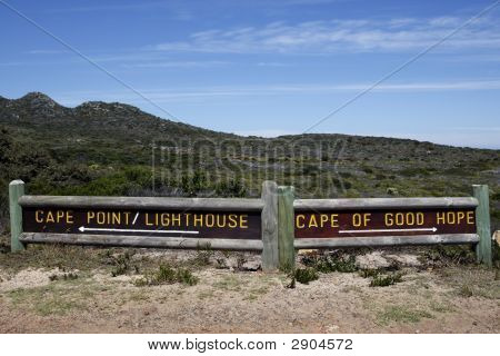 Cape Of Good Hope And Cape Point Signpost