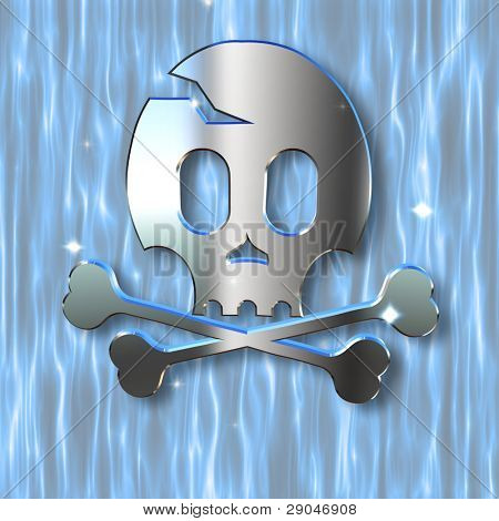 underwater skull and crossbones