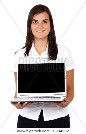 Business Woman On A Laptop