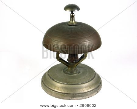 Hotel Reception Service Bell - Isolated