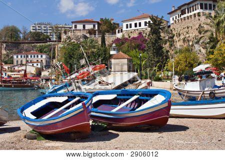 Boats In Antalya'S Marina, Turkey