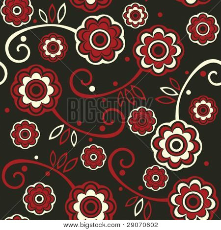 floral seamless background, vector image
