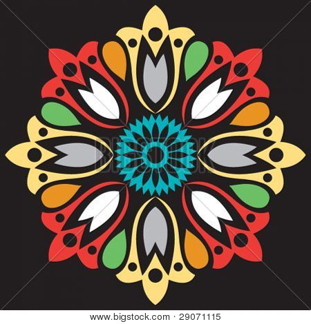 abstract flower, vector illustration