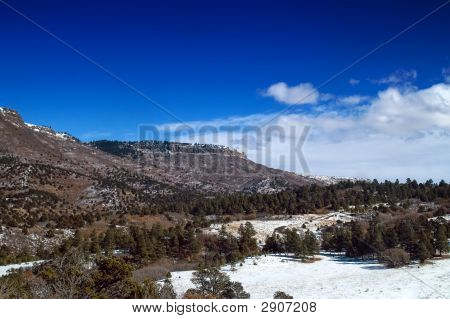 Colorado Plateau Mountains In Snow