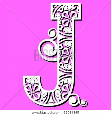 openwork alphabet, letter J