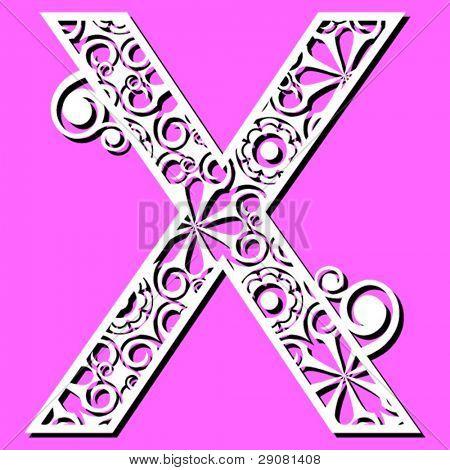 openwork alphabet, letter X