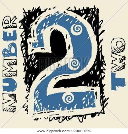 Vectores y fotos en stock de números de graffiti, doodle número ...
