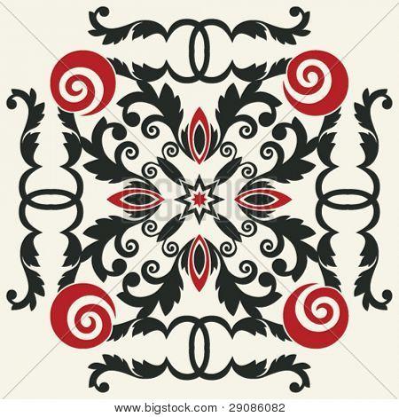 decorative floral vignette, vector embellishment for scrapbooking