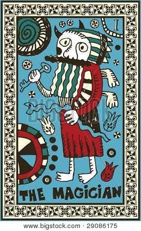 hand drawn tarot deck, major arcana, the raster version, the magician