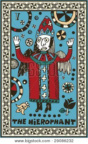 hand drawn tarot deck, major arcana, the raster version, the hierophant