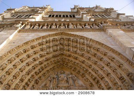 Facade Of Notre Dame De Paris