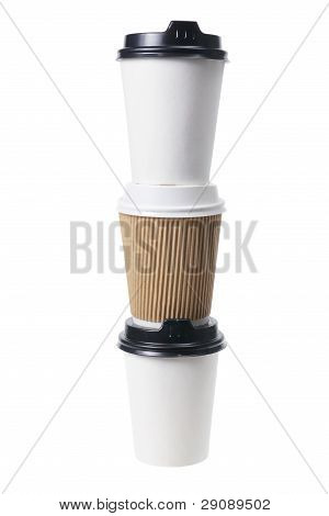 Stack Of Takeaway Coffee Cups