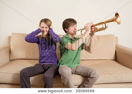 Playing Trumpet Badly