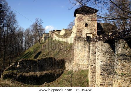 Czech - ruin of castle Lukov next to