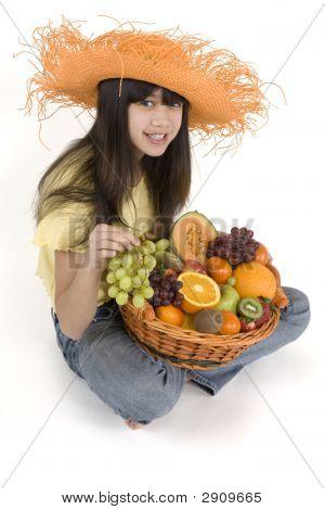 Teenagers With Fruit Basket