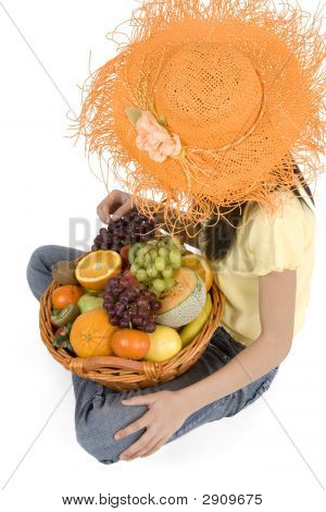 Teenagers With Fruit Basket