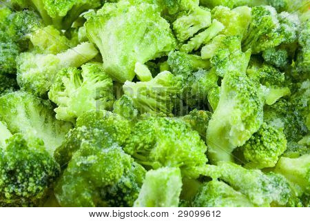 frozen broccoli baskground