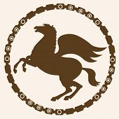 silhouette picture of pegasus
