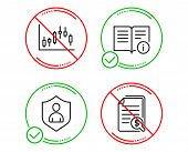 Do Or Stop. Candlestick Graph, Technical Info And Security Icons Simple Set. Financial Documents Sig poster