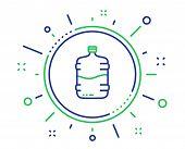 Water Cooler Bottle Line Icon. Still Aqua Drink Sign. Liquid Symbol. Quality Design Elements. Techno poster