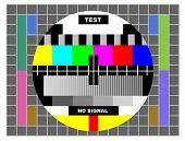 Постер, плакат: Цветной телевизор тестовый шаблон