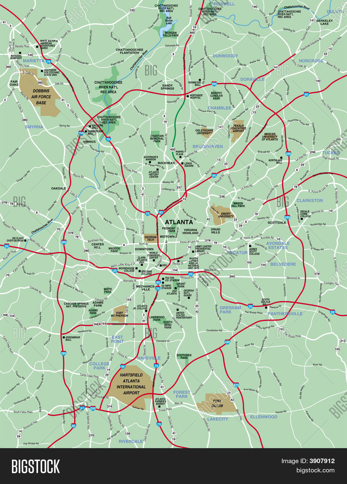 Atlanta Area Map | World Map 07