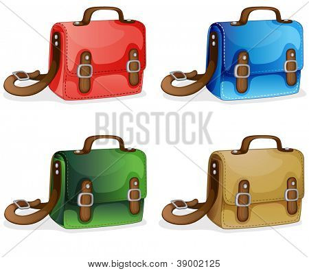 illustration of bags on a white background