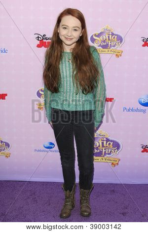 BURBANK - NOV 10: Sabrina Carpenter at the premiere of Disney Channels' 'Sofia The First: Once Upon a Princess' at Walt Disney Studios on November 10, 2012 in Burbank, California