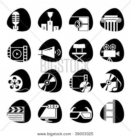 Vector icons on the theme of the movie