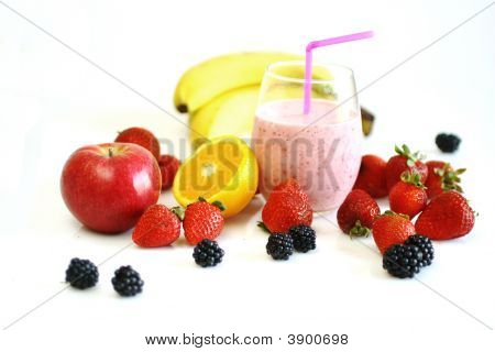 Smoothie And Fruits