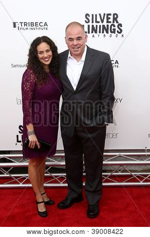 NEW YORK-NOV 12: Writer Matthew Quick and guest attend the premiere of