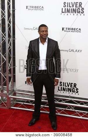 "NEW YORK-NOV 12: Actor Chris Tucker attends the premiere of ""Silver Linings Playbook"" at the Ziegfeld Theatre on November 12, 2012 in New York City."