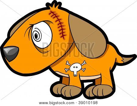 Scary Insane Puppy Dog Vector