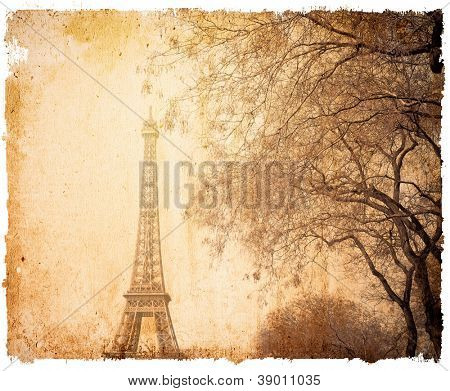old-fashioned The Eiffel Tower (nickname La dame de fer, the iron lady),The tower has become the most prominent symbol of both Paris and France