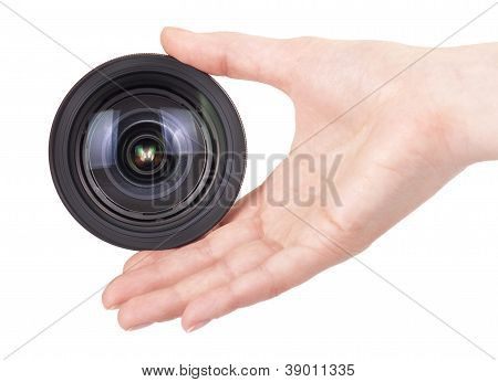 Professional Digital Photo Lens Isolated
