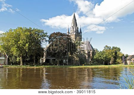 Medieval church in Nes a/d Amstel in the Netherlands