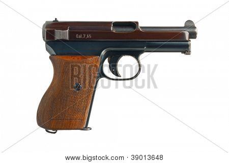 A German 7.65mm semi-automatic pocket pistol from 1934.