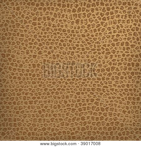 Seamless vector brown leather texture background. Seamless leather pattern