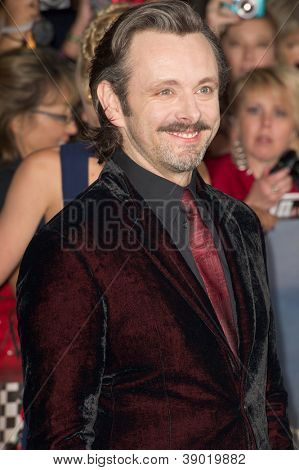 LOS ANGELES, CA - NOVEMBER 12: Actor Michael Sheen arrives at the premiere of The Twilight Saga: Breaking Dawn - Part 2 at the Nokia Theater in Los Angeles, CA on November 12, 2012