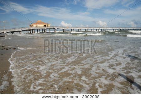 Pier On Padre Island, Southern Texas Usa