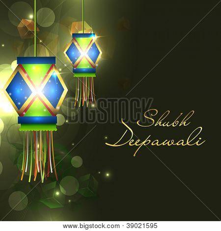 Hanging lantern or lamp for Diwali celebration in India. EPS 10.