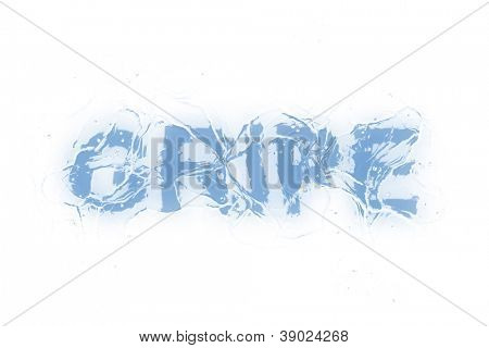 A frozen word/phrase from a serie isolated on a white background. 'Gripe' in Portuguese-Br language means 'Influenza/Flu'.