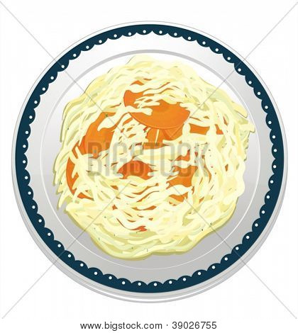 illustration of a dip misc in a dish on a white background
