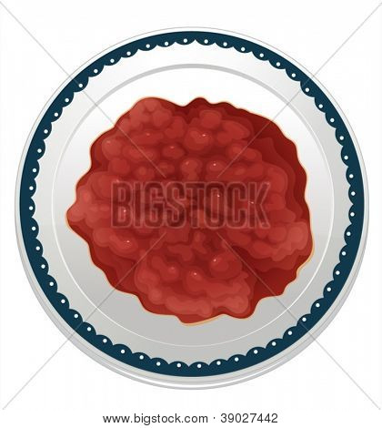 illustration of a bean dip on a white background
