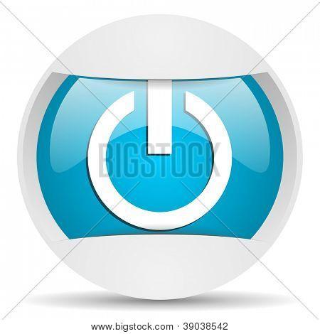 power round blue web icon on white background