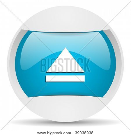 eject round blue web icon on white background