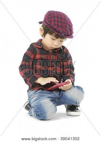 Young boy fun in floor