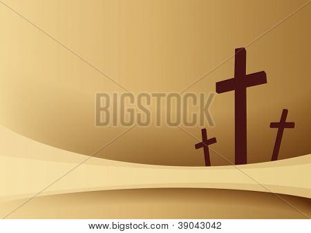 Easter background with crosses